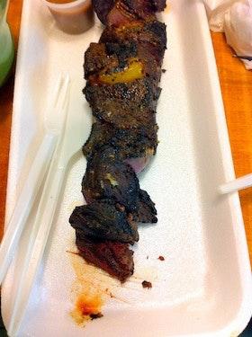 冰岛美食鲸鱼肉