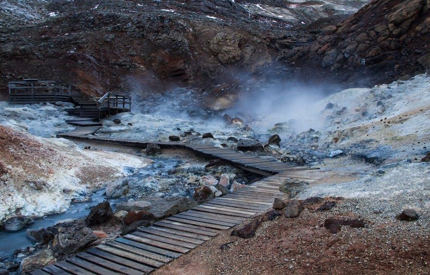 Seltún geothermal area in Reykjanes peninsula