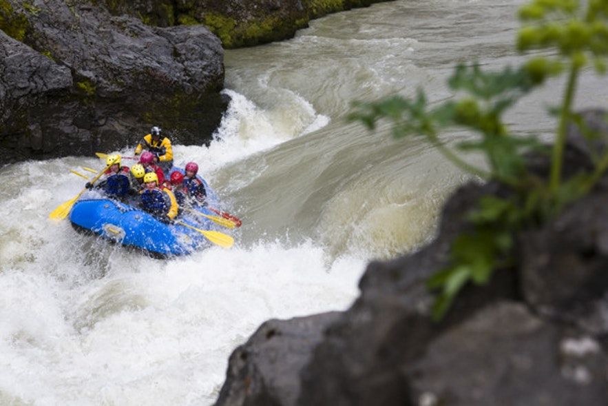 River rafting in Iceland