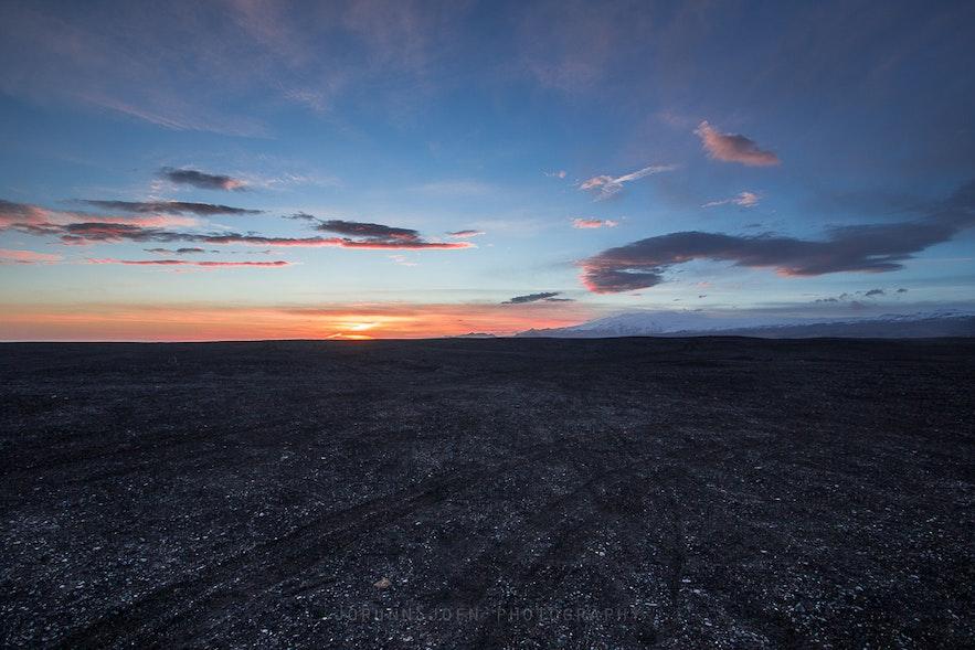 Sólheimasandur in south Iceland