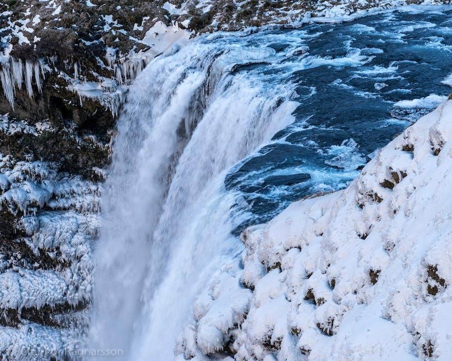Winter waterfalls in Iceland