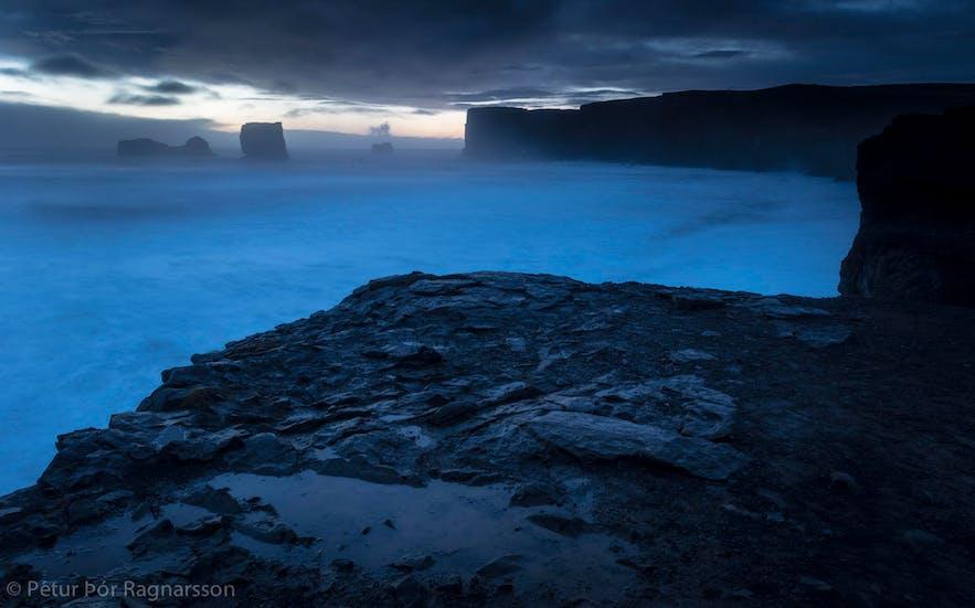 The winter coastline in Iceland