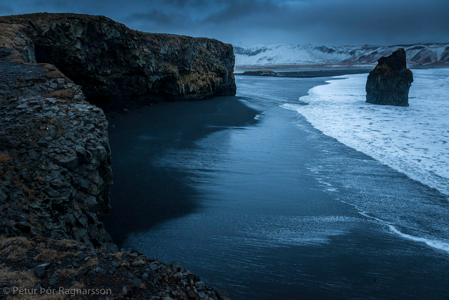 The winter sea in Iceland