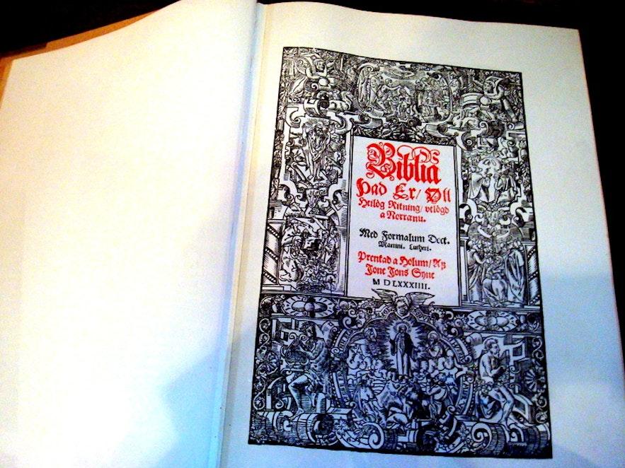 The Bible of Guðbrandur also known as Guðbrandsbiblía