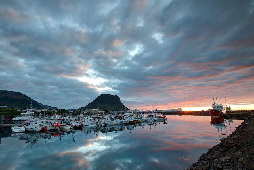 The harbour in Grundarfjörður, Iceland