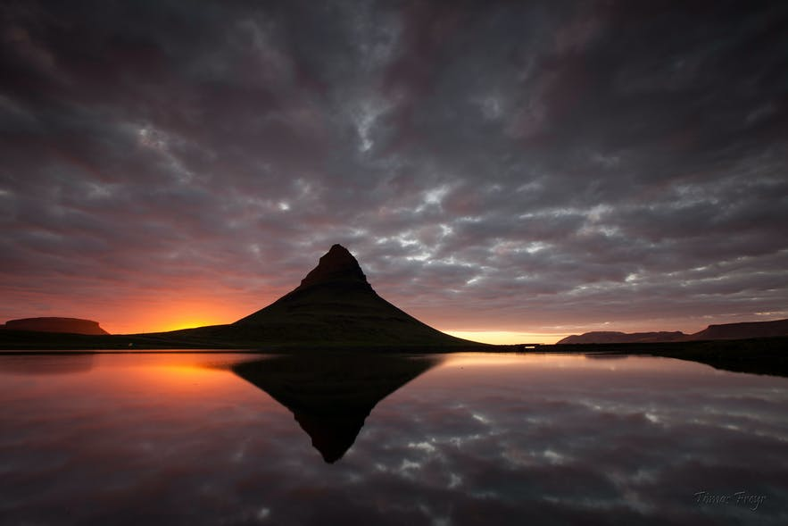 Kirkjufell at sunset