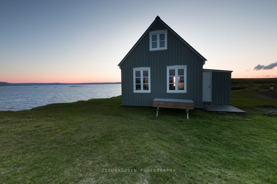 The remote island Flatey