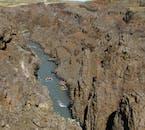 ホフスヨークトル氷河から流れていくヨークルスアゥ・ヴェスタリ川