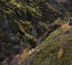 La vallée de Thórsmörk en Islande est parsemée de formations de lave et de champs de mousse
