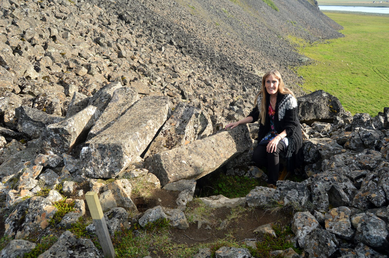 The Lair of the Viking Grettir the Strong in Öxarnúpur in North-East Iceland