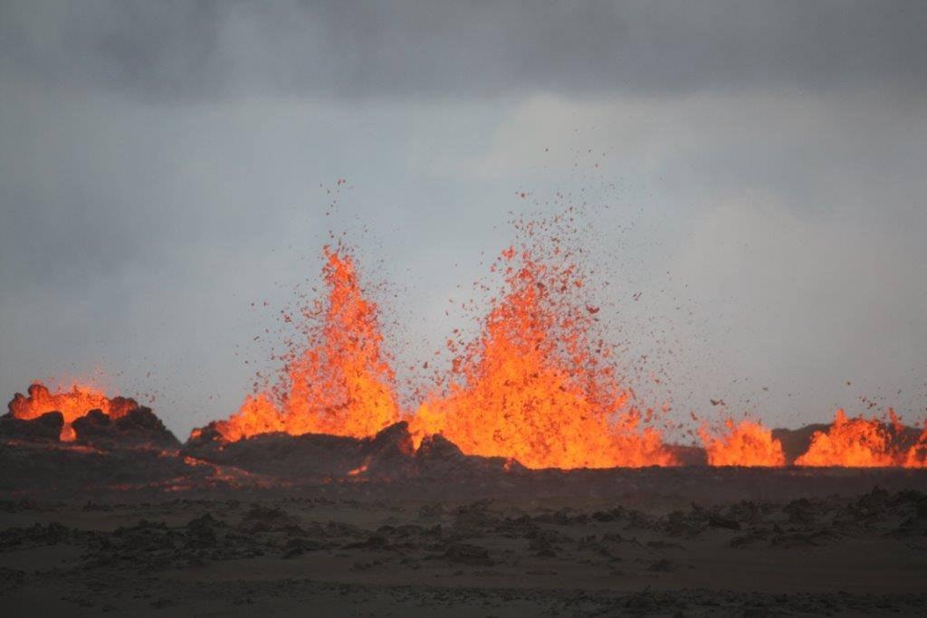 冰岛东北部巴达本加(Bardarbunga)的霍鲁赫朗(Holuhraun)火山爆发