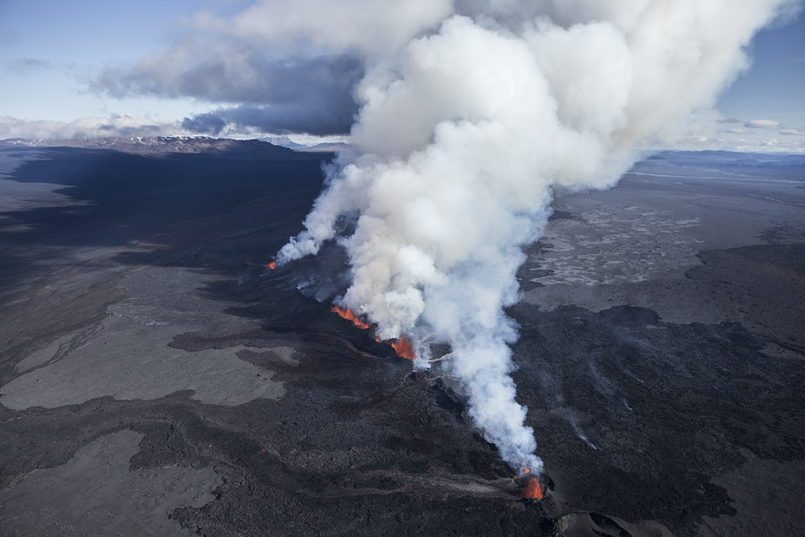 Holuhraun volcano in Iceland