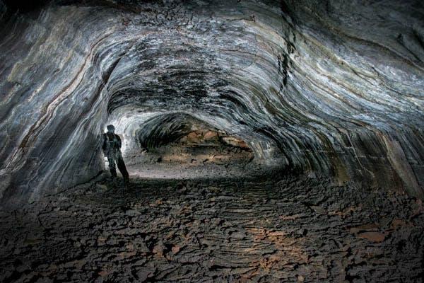 Leiðarendi cave in Iceland