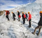 Hikers on the glacier will need to wear helmets, wind/rainproof overalls and crampons on their boots.