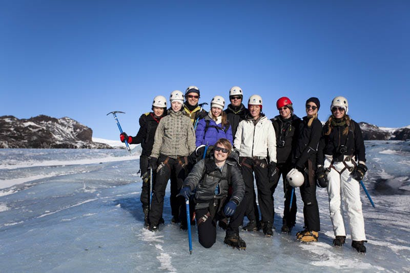Small Group Glacier Hiking & Ice Climbing Tour on Solheimajokull Glacier