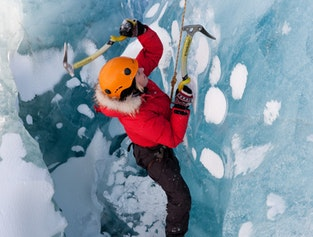 Glacier hiking & ice climbing tour from Reykjavik | Medium difficulty