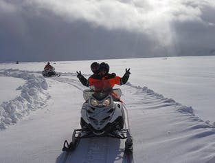 Golden Circle Super Jeep tour   With snowmobiling on Langjokull