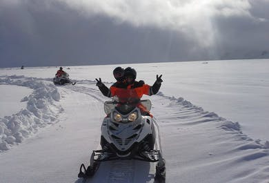Golden Circle Super Jeep tour | With snowmobiling on Langjokull