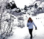 Dimmuborgir in winter is the setting for the Wildling Camp in Game of Thrones, shot in Mývatn.
