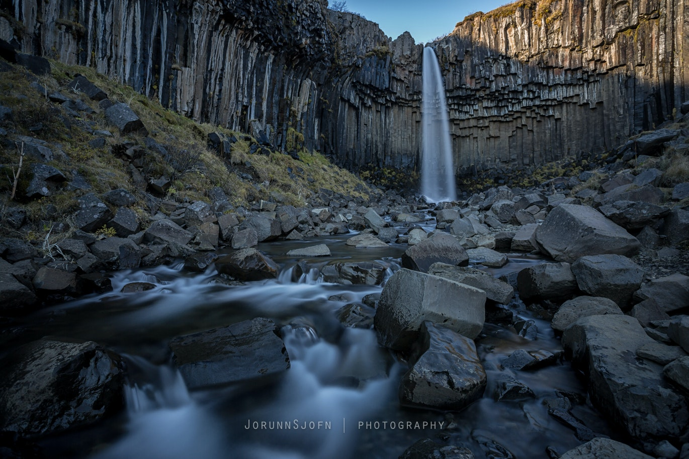 Svartifoss waterfall in Skaftafell National Park