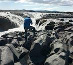 The powerful glacier river Jökulsá á Fjöllum runs wild through the Icelandic Highlands.