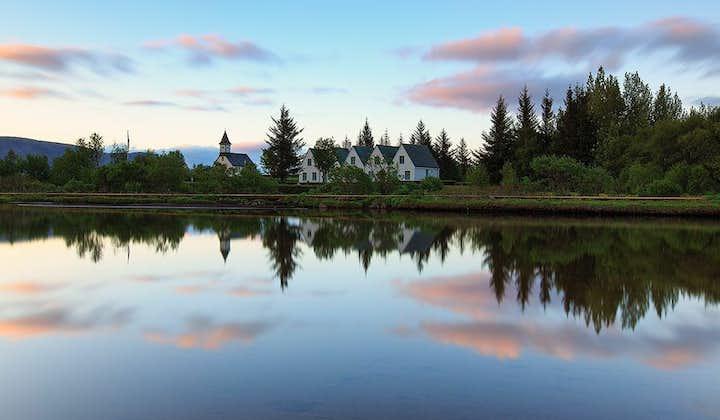 Þingvellir is home to the scenic Almannagjá gorge, the exposed North American tectonic plate.