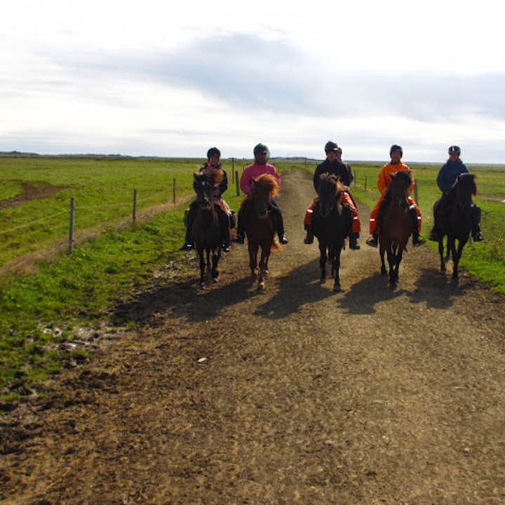 Ride a horse through the Icelandic countryside and get in touch with nature.