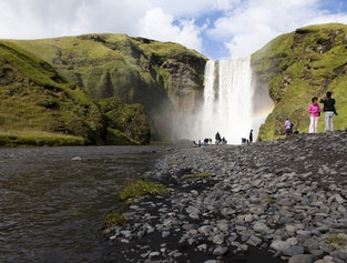 Glaciers and waterfalls of South Iceland