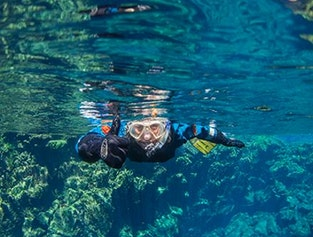 Snorkeling in Silfra and the Golden Circle