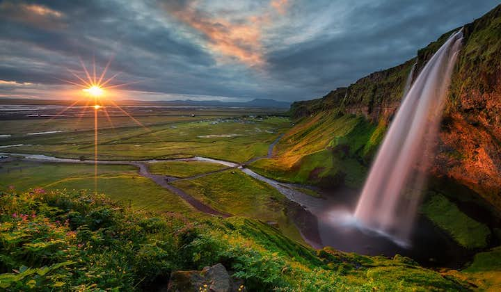 At Seljalandsfoss waterfall, you will be privy to some magnificent views across Iceland's South Coast.
