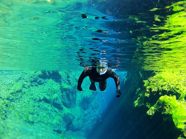 冰岛大裂缝浮潜团