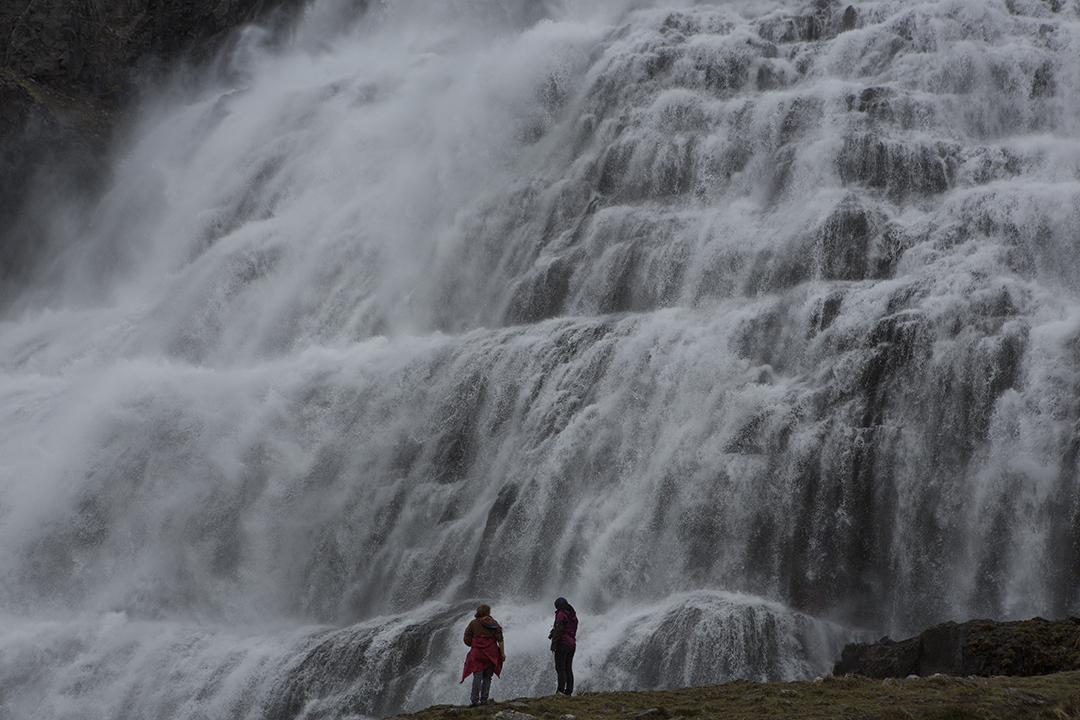 冰岛西部峡湾的丁坚地瀑布Dynjandi是冰岛最壮丽的瀑布之一