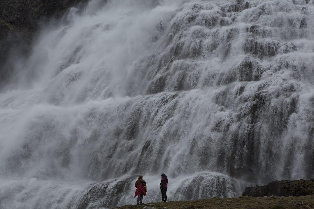 Der Wasserfall Dynjandi gehört zu den beeindruckendsten Sehenswürdigkeiten in Islands Westfjorden.