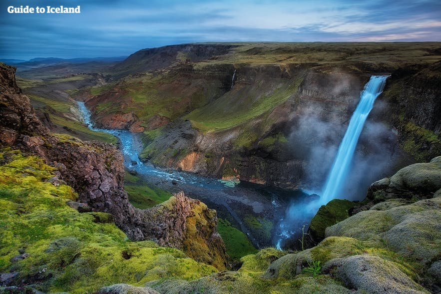 Háifoss waterfall, Iceland's second highest