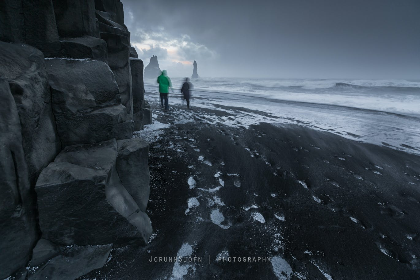 Winter Hiking on Reynisfjara