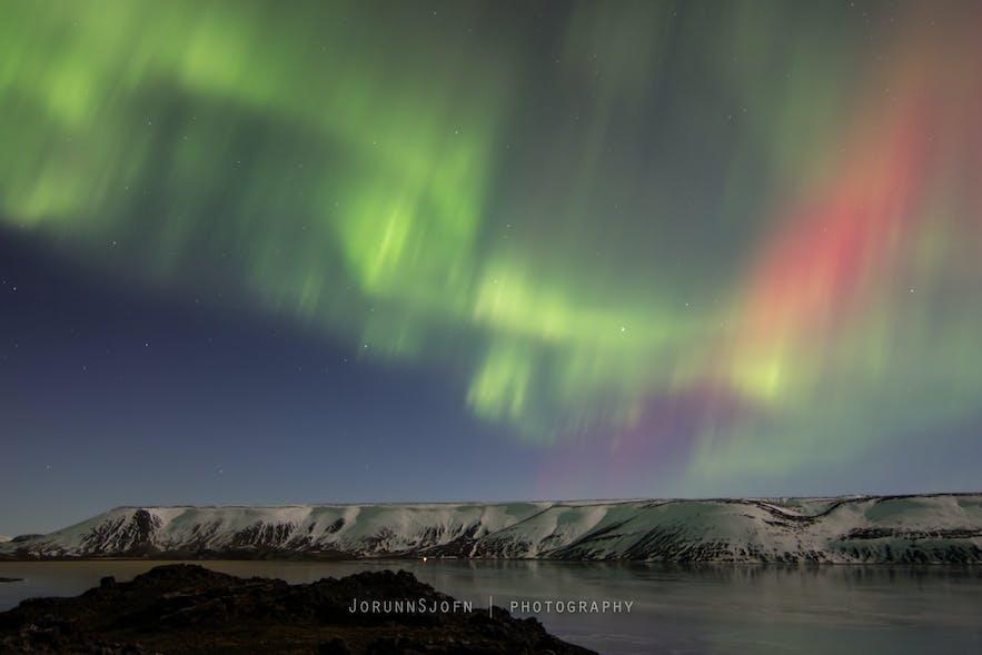 Northern Lights in winter
