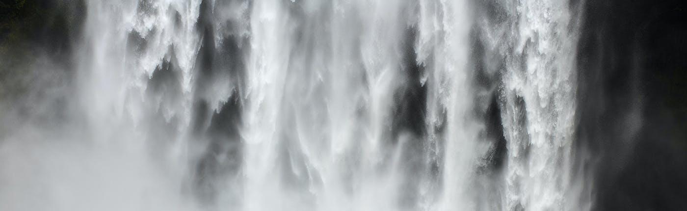 Horseback riding at Skógafoss
