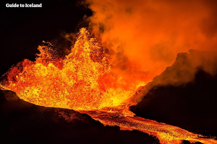 冰岛Holuhraun火山喷发