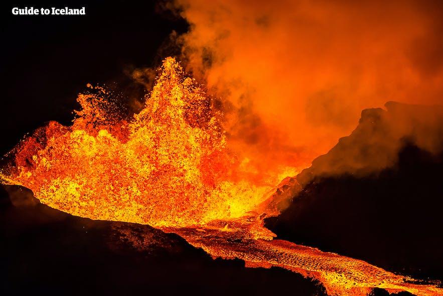 아이슬란드 화산 분출