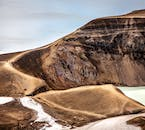 The Askja Caldera and its crater Víti, which means Hell, in the Icelandic Highlands.
