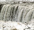 Dettifoss waterfall has one of the most powerful flow rates in Europe, meaning it will never freeze.