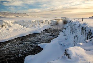 Dettifoss Waterfall from Lake Myvatn   Winter Tour