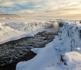 Dettifoss Waterfall from Lake Myvatn | Winter Tour