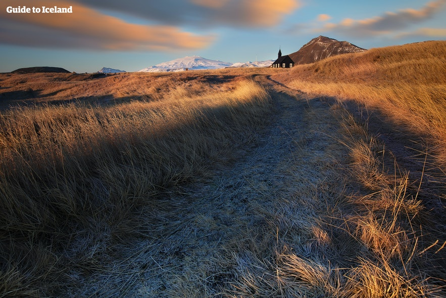 Winteransicht des Snæfellsjökull