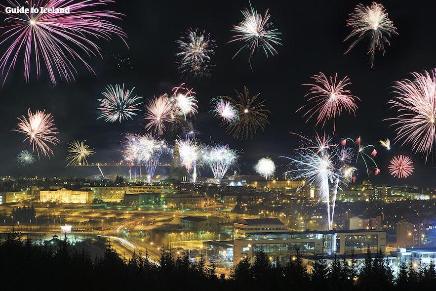 Oudejaarsavond in Reykjavík