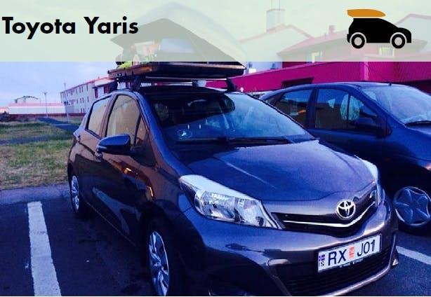 Toyota Yaris + Camping Roofbox 2014
