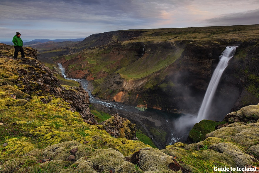 Háifoss waterfall is a romantic location in Iceland for a proposal