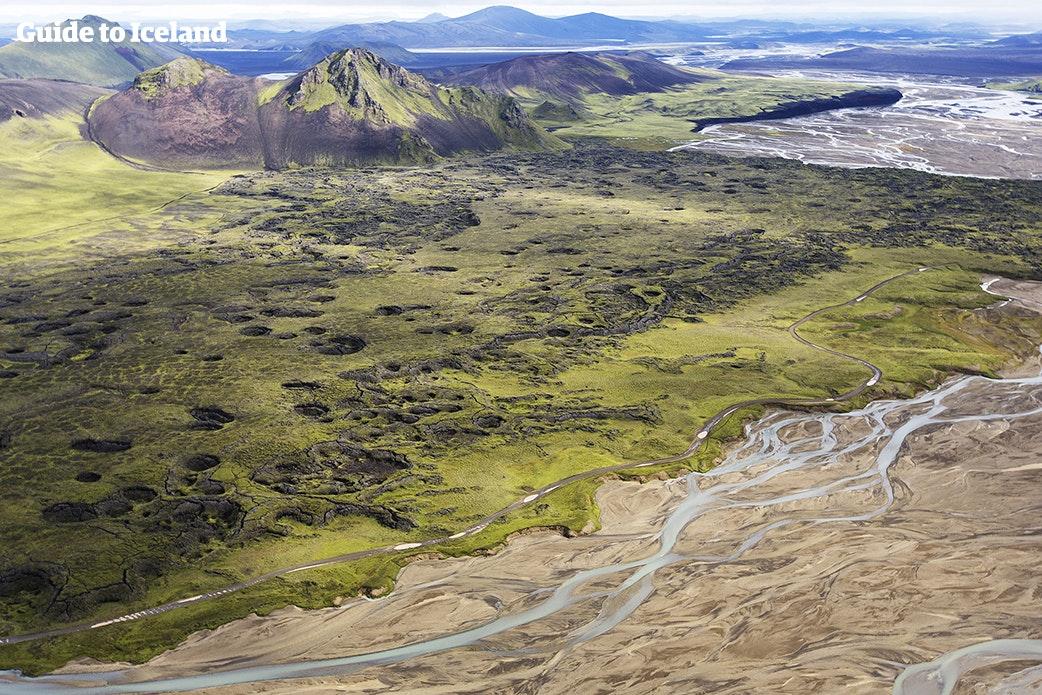 冰岛内路高地美丽景色