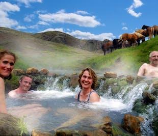 乗馬ツアー|レイキャダルルの川温泉で入浴付き