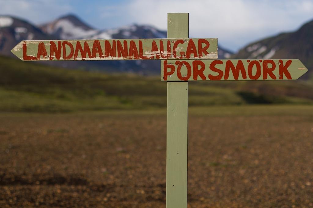 Der Laugavegur-Trek führt von Landmannalaugar nach Thórmörk und ist einer der beliebtesten Hochlandwanderwege.